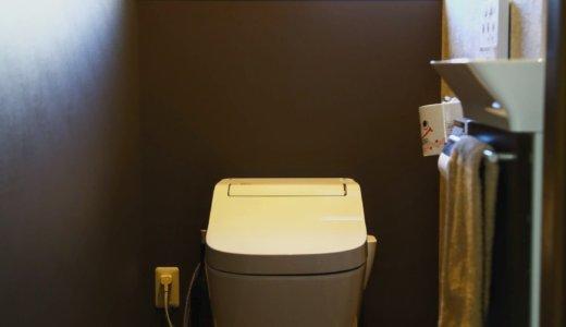 来客メインの落ち着くダーク調の空間に仕上げた1階トイレ。失敗&成功ポイントも!